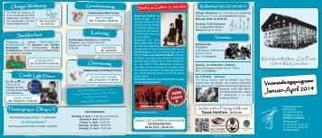 Programm Januar – April 2014 - Beim John