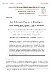 Cold Resistance in Wheat and its Related Species - Journal of ...