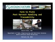 Farm to Plate Post Harvest Handling and Traceability