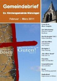 Gemeindebrief Gemeindebrief Ev. Kirchengemeinde Münsingen Ev ...