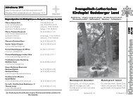 Ju g end- Ju g end- Ju g end- Ju g end - Kirchspiel Radeberger Land