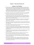 Chapter 3 - What Social Workers Do - Center for Workforce Studies - Page 4
