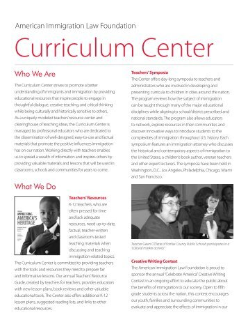 Curriculum Center - American Immigration Council