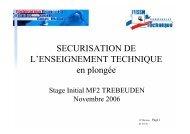 Sécurisation de l'enseignement technique v1.00