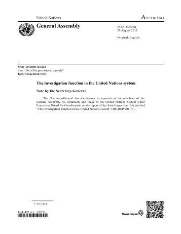 CEB comments - Joint Inspection Unit