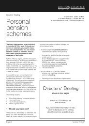 Personal pension schemes