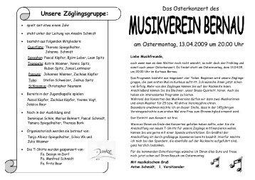 Unsere Zöglingsgruppe: - Musikverein Bernau