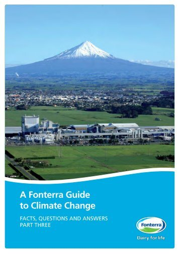 A Fonterra Guide to Climate Change