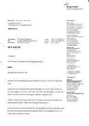 Schriftsatz vom 24.11.2003 - Wengert Gruppe