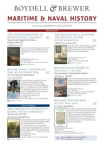 MARITIME & NAVAL HISTORY - University of Rochester Press