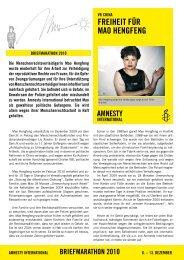 freiheit fÜr mao henGfenG - Amnesty International Österreich