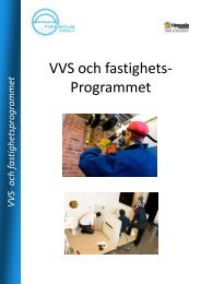 Fullständig specifikation av VVS- och fastighetsprogrammet