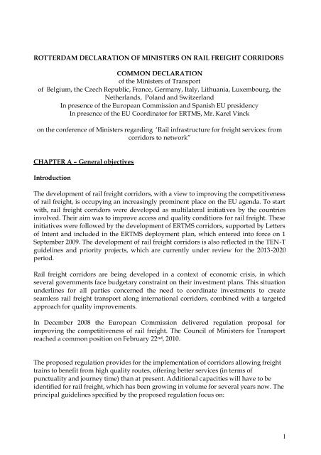 1 ROTTERDAM DECLARATION OF MINISTERS ... - Rijksoverheid.nl