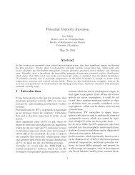 Potential Vorticity Inversion - F9