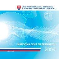 národná cena sr za kvalitu - Úrad pre normalizáciu, metrológiu a ...