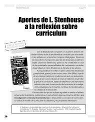 Aportes de L. Stenhouse a la reflexión sobre ... - Revista Docencia