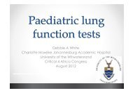 Debbie White Paediatric lung function tests