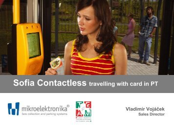 Sofia Contactless travelling with card in PT