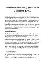 Vorläufige Stellungnahme des BN zur Neuausrichtung der ...