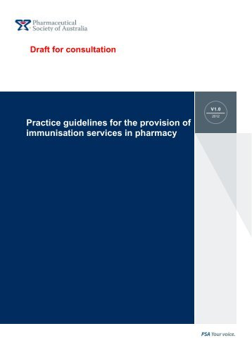 Practice guidelines for the provision of immunisation services in ...