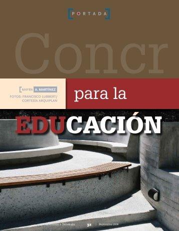 Concreto para la educación - Instituto Mexicano del Cemento y del ...