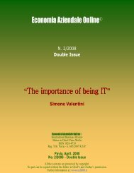 """Economia Aziendale Online© """"The importance of being IT """""""