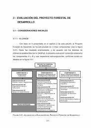 3 – EVALUACIÓN DEL PROYECTO FORESTAL DE DESARROLLO