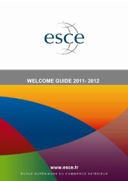 Welcome Guide _2011-2012 - ESCE