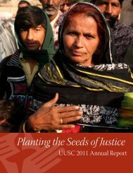 Planting the Seeds of Justice - Unitarian Universalist Service ...