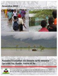 Rapport d'évaluations des besoins après désastre - GFDRR