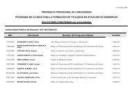 PROPUESTA PROVISIONAL DE CONCESIONES ... - Navarra