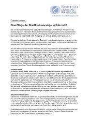 Neue Wege der Brustkrebsvorsorge in Österreich - Österreichische ...