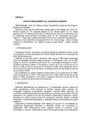 Cancerul mamar - Spitalul Clinic Municipal de Urgenta Timisoara