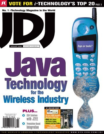 JDJ 10-1.indd - sys-con.com's archive of magazines - SYS-CON Media