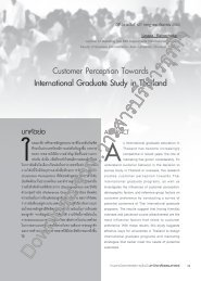 Customer Perception Towards International Graduate Study in ...