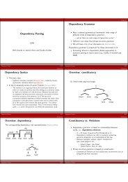 Dependency Parsing Dependency Grammar Dependency Syntax ...
