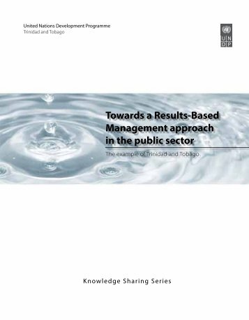 Towards a Results-Based Management approach in the public sector