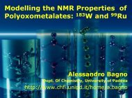 Modelling the NMR Properties of Polyoxometalates: 183W and 99Ru