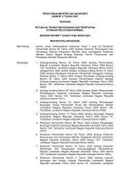 peraturan menteri dalam negeri nomor 6 tahun 2007 - Digilib