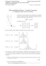 Due date 28.11.2012 - Institut für Mathematik