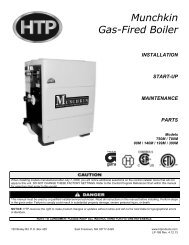 Munchkin Gas-Fired Boiler - Heat Transfer Products, Inc