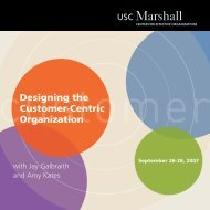 Designing the Customer-Centric Organization - Center for Effective ...