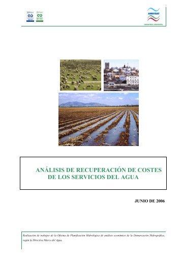 análisis de recuperación de costes de los servicios del agua