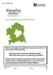 Connecting People and Wildlife Grant 2013 - Leicestershire County ...