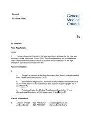 7c. Fees Regulations - General Medical Council