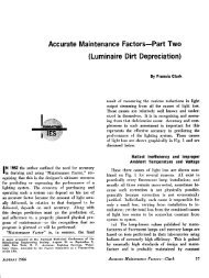 Accurate Maintenance Factors—Part Two - Illuminating Engineering ...