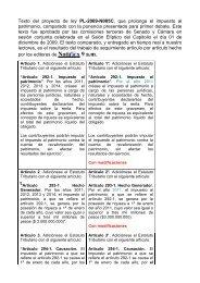 Texto del proyecto de ley PL-2009-N005C, que prolonga ... - Camacol