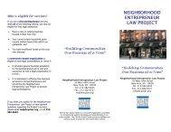 Neighborhood Entrepreneur Law Project - New York City Bar ...
