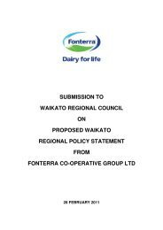 Fonterra - Waikato Regional Council