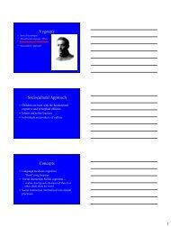 Vygotsky Sociocultural Approach Concepts